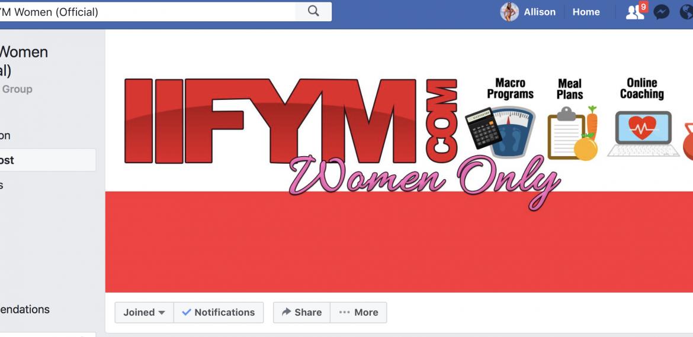 IIFYM = If it Fits your Macros Group